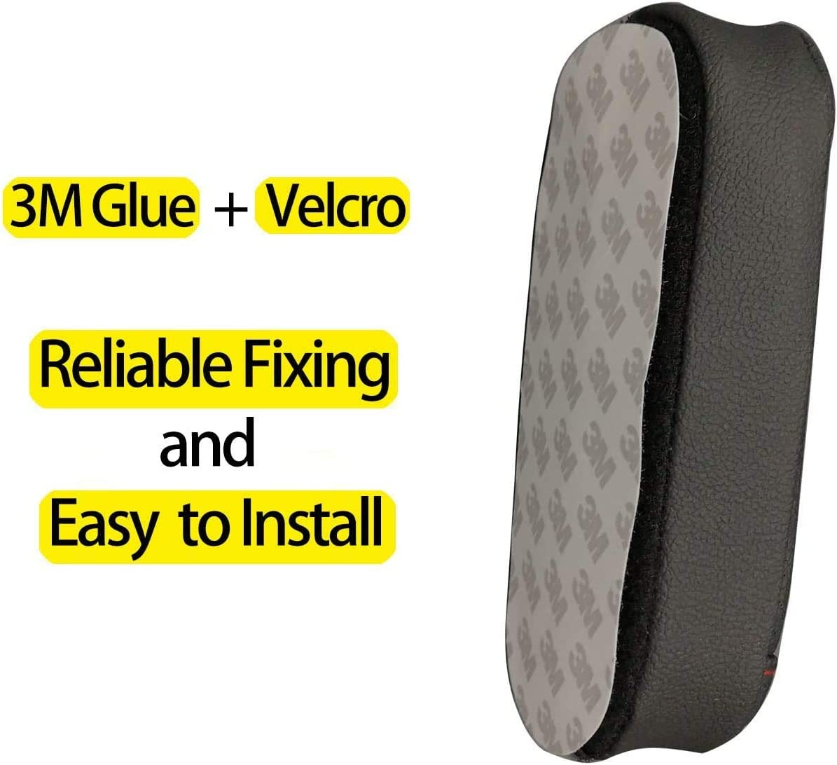 Black Armrest Pad for Car Door,Driver Side Soft Pad for Knee Pain Relief,Knee Pillow for Car Auto Center Console,Universal Car Interior Accessories