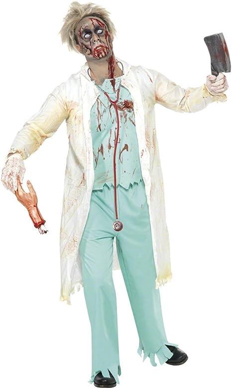 NET TOYS Traje de Doctor Zombie Disfraz día de los Muertos médico ...