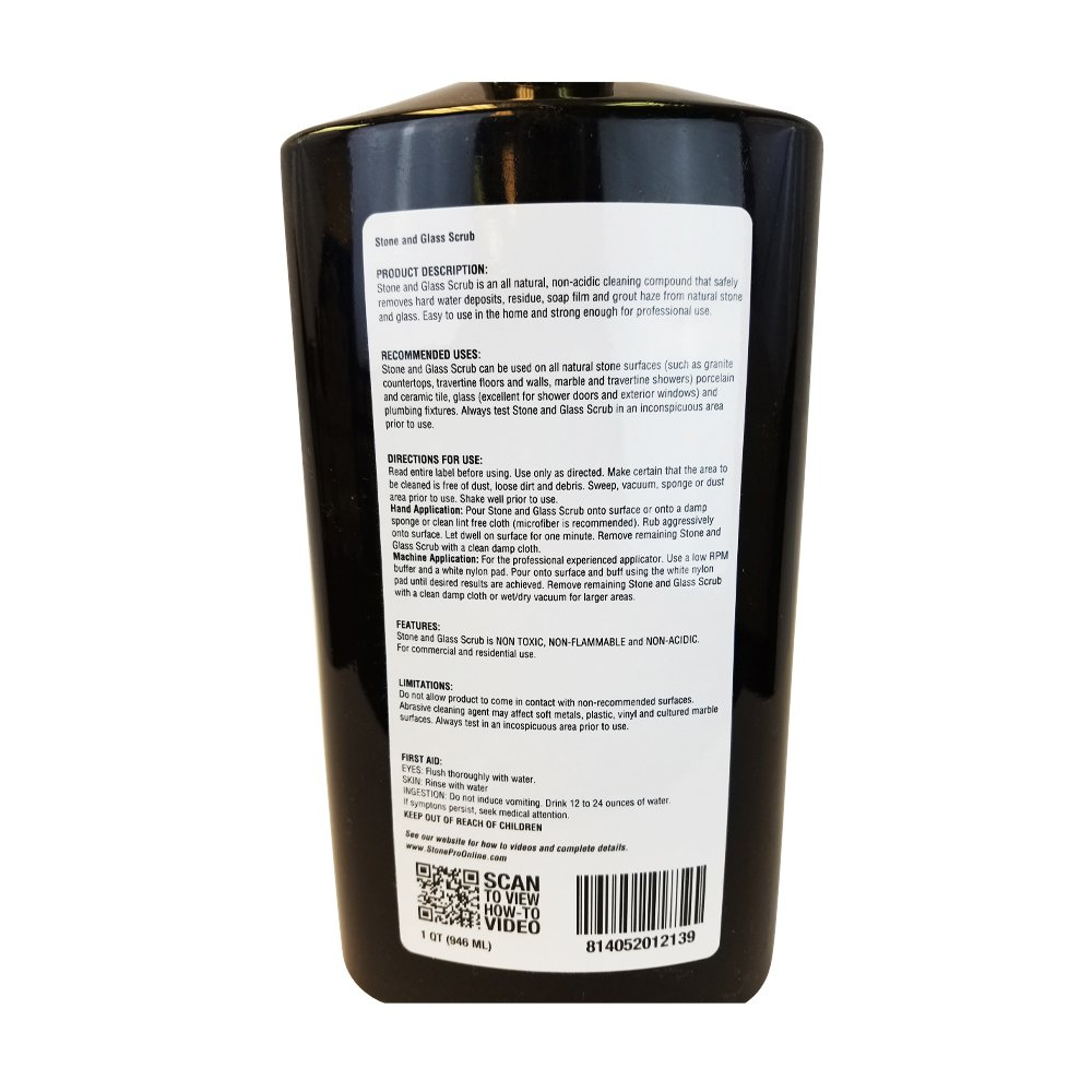 Amazon.com: Stone Pro Hard Water Deposit Remover - Stone and Glass ...