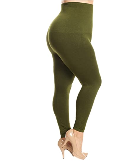 036dd446c7d Yelete Legwear High Waist Compression Leggings with French Terry Lining
