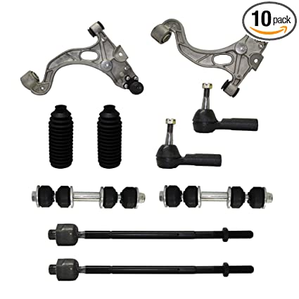 Detroit Axle - New Complete 10-Piece Front Suspension Kit - Both (2) Front  Lower Control Arms & Ball Joint, All (4) Inner & Outer Tie Rod Ends