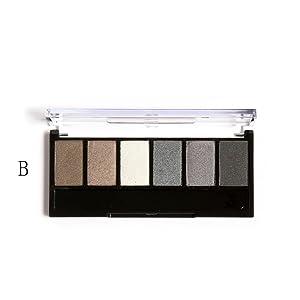 Fullkang Retro 6 Colors Smoky Eye Shadow Makeup Makeup Kit Charming (B#)