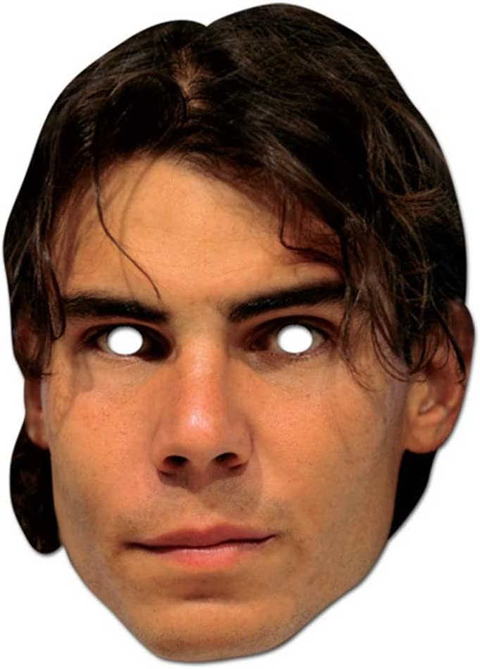 / 30/ x 30/ x 21/ cm Empireposter Rafael Nadal Cardboard Mask Made Glossy Cardboard Celebrity Party Mask with Eye Holes and Elastic Band/