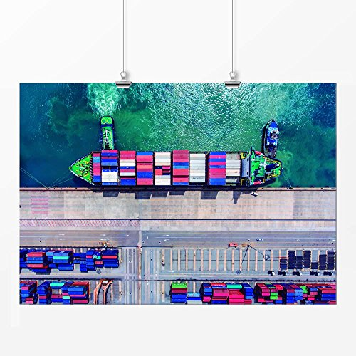 Pôster - Colorido navio 29x42cm