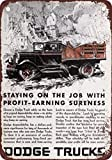 1930 Dodge Trucks Vintage Look Reproduction Metal Tin Sign 12X18 Inches
