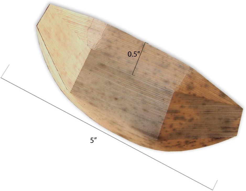 5-50 ct Bamboo Tasting Boats