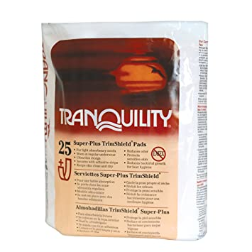 Tranquility TrimShield Adult Incontinence Pads for Men or Women - Super-Plus - 25 ct