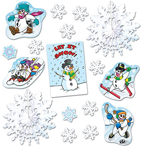 Beistle 17 Piece Let It Snow Winter Decorama Holiday Decorations Kit ()