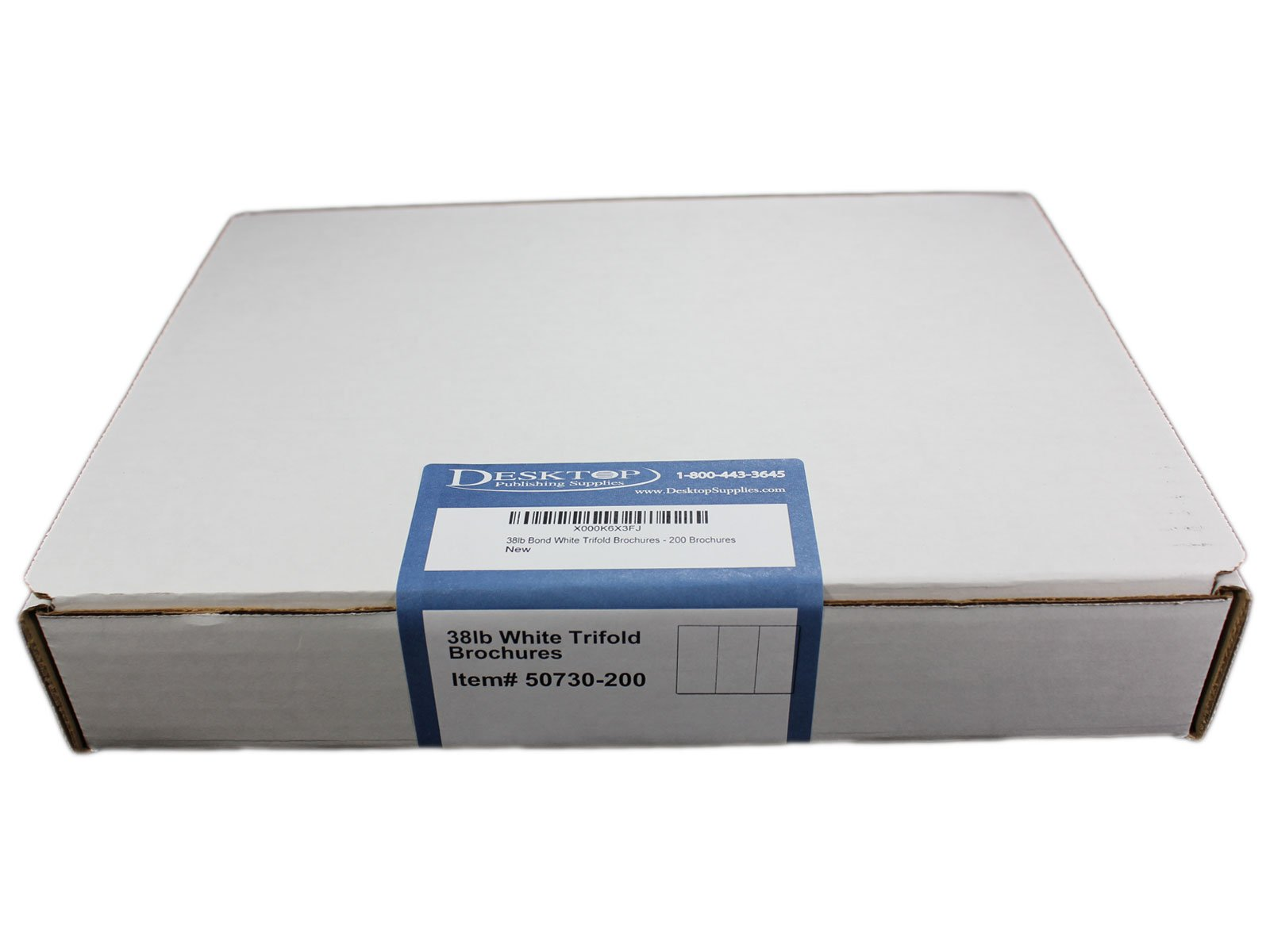 38lb Bond White Trifold Brochures - 200 Brochures - Desktop Publishing Supplies, Inc.™ Brand