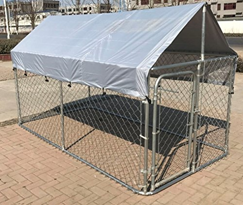 Dog Kennel Enclosures : Chickencoopoutlet large outdoor chain link dog kennel