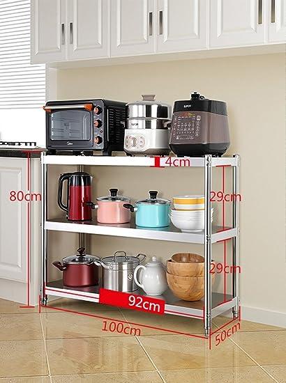 Amazon.com: Storage Racks Stainless Steel Microwave And ...