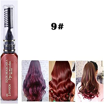 Xixini - 1 colorete de pelo con peine de tiza para el pelo ...