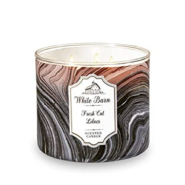 White Barn Bath & Body Works Fresh Cut Lilacs 3 Wick scented candle