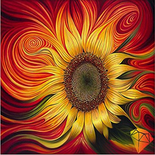 AURNEW Full drill diamond embroidery sun flowers painting with diamonds mosaic rhinestone picture needlework (3030cm)