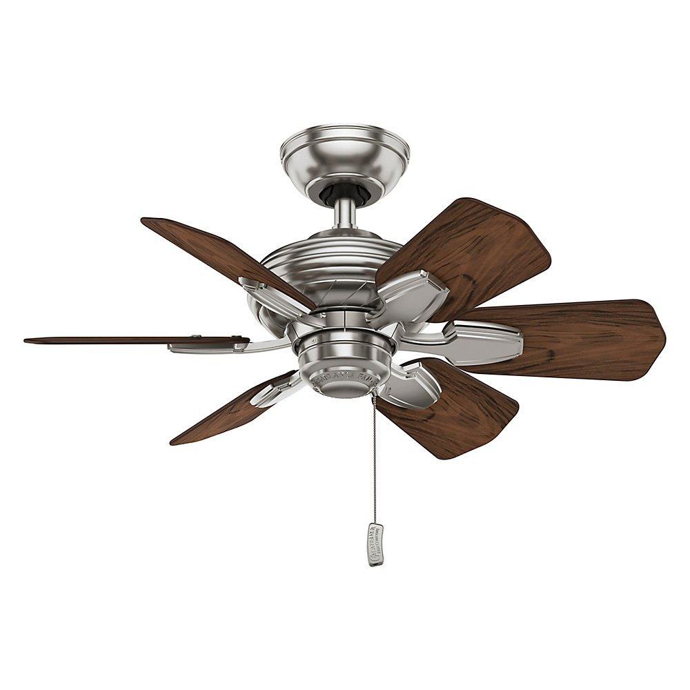 Casablanca 59524 Wailea 31-Inch Brushed Nickel Ceiling Fan with Six Dark Walnut Blades