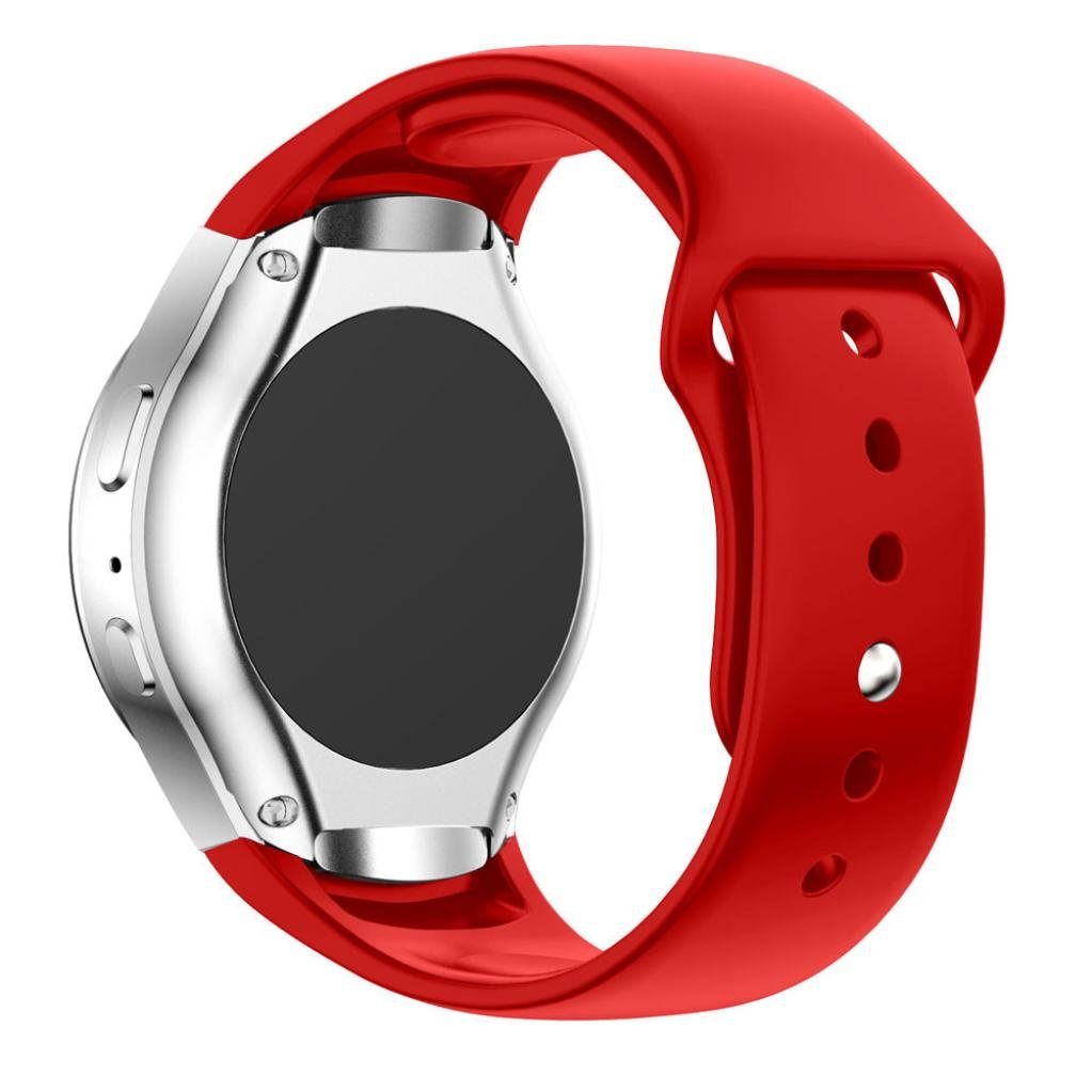 Luxuryシリコン時計バンドストラップfor Samsung Galaxy Gear s2 sm-r720 Kanhan  レッド B078M22XK9