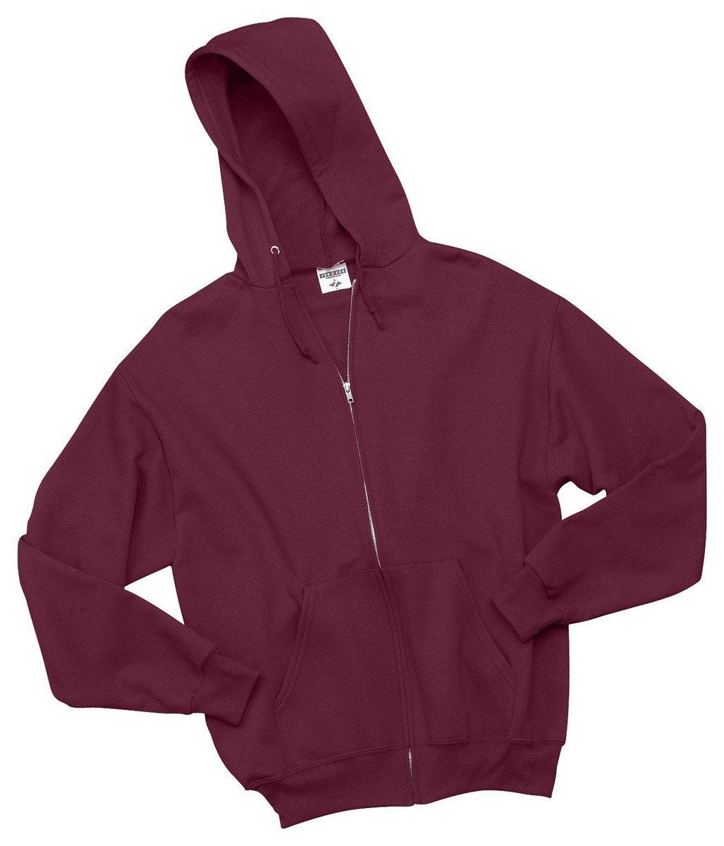Jerzees Youth Nublend Full-Zip Hooded Sweatshirt, Maroon, Medium