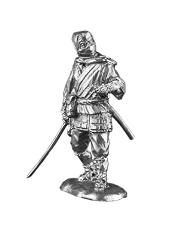 Amazon.com: Japanese Ninja Samurai Wars UnPainted Tin Metal ...