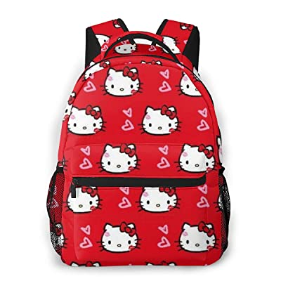 Hello Kitty in Love Casual Backpack Zipper School Bag Travel Daypack Men Women Teens Gift: Computers & Accessories