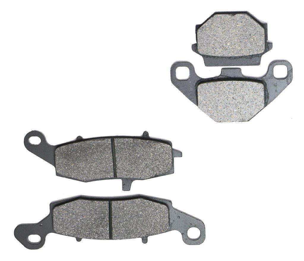 CNBK Semi Metallic Disc Brake Pads Set fit KAWASAKI Street Bike KLR650 KLR 650 cc 650cc C1-C8 95 96 97 98 99 00 01 02 03 04 1995 1996 1997 1998 1999 2000 2001 2002 2003 2004 4 Pads