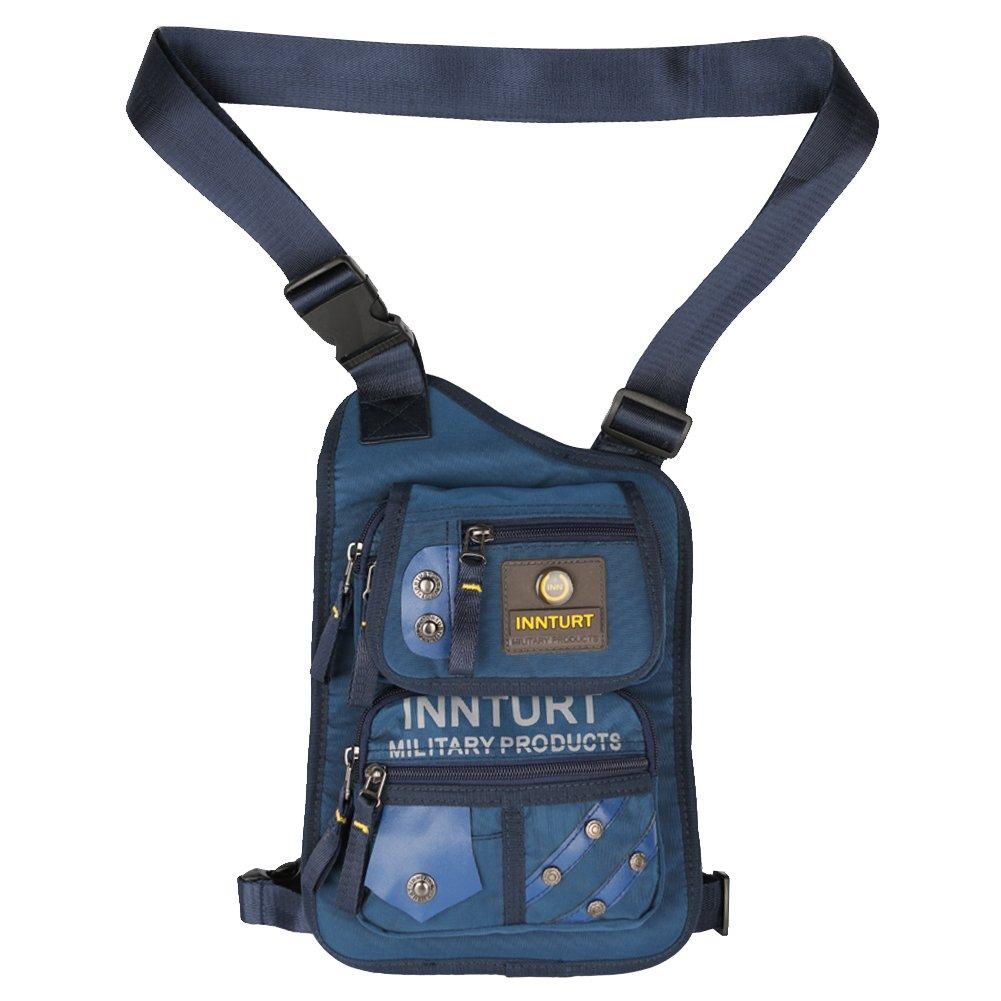 Innturt Bein- und Oberschenkel Taktische Hüfttasche Gürteltasche, bk1093 blau
