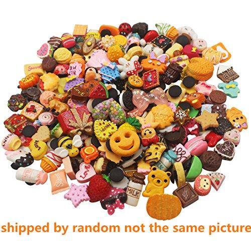 3D Different Random 100 Pcs Resin Cute Shoe Charms for Croc Shoes & Bracelet Wristband