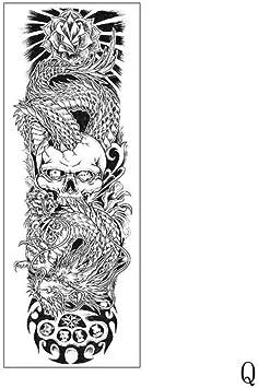 Tatuaje Etiqueta Engomada Del Brazo Completo Manga Grande Pez ...