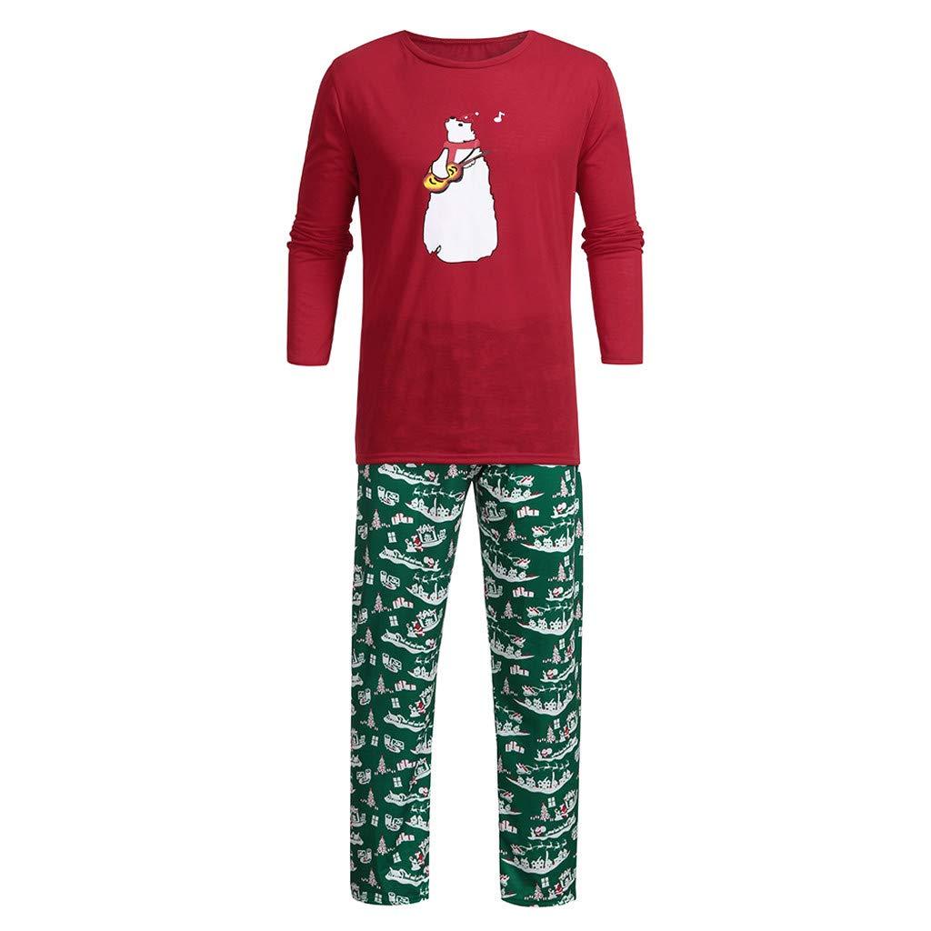 e404f05486639 Amazon.com: EnjoCho Family Clothes Santa Deer Tops Blouse Pants ...