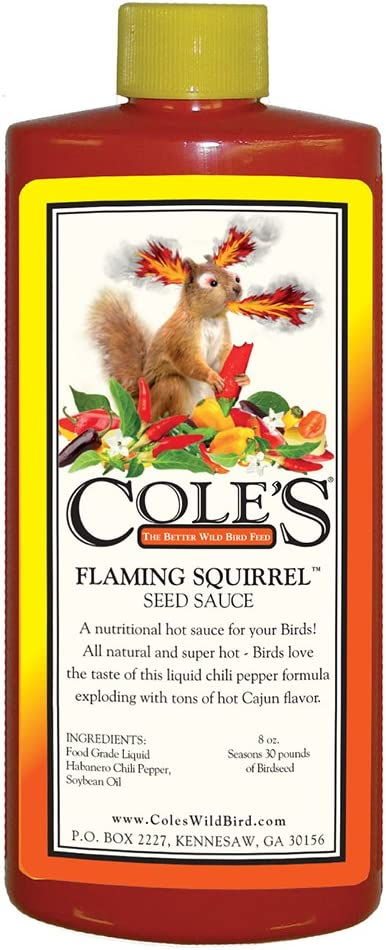Cole's FS08 Flaming Squirrel Seed Sauce, 8-Ounce