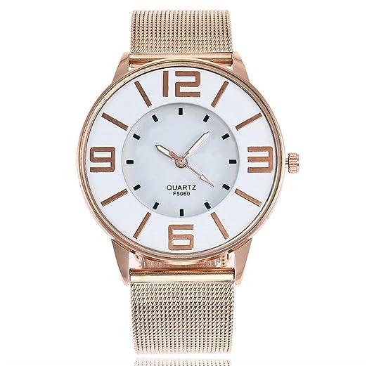 Relojes de Pulsera de Reloj de Correa de Mármol de Banda de Acero Inoxidable de Cuarzo Casual por ESAILQ: Amazon.es: Relojes