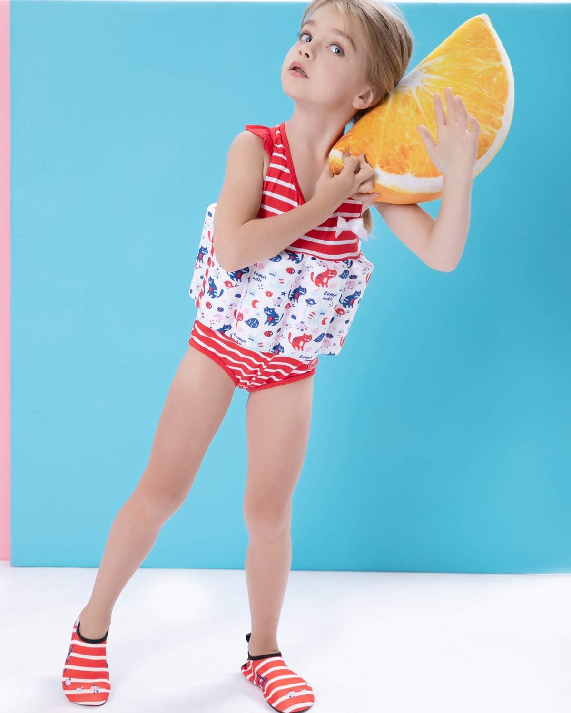 Zerlar Floatation Swimsuits with Adjustable Buoyancy for 1-10 Years Baby Girls
