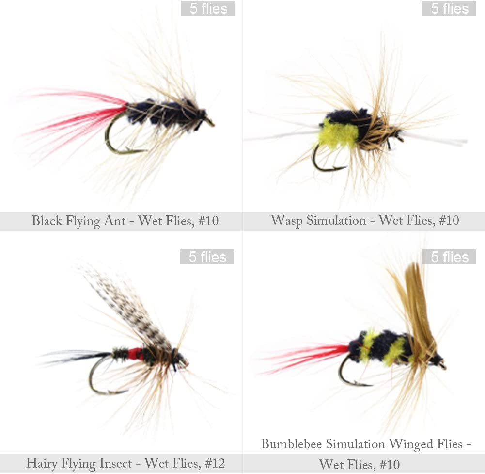 Assorted Mixed Winged Dry Flies for Trout Fly Fishing