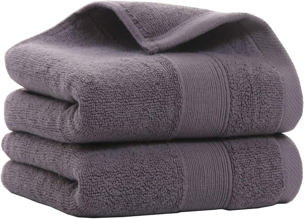 Bath Brilliant An Hand Towel White Cotton Large Towel 14x30 inches, 4-Pieces Set, White for Hotel Gym and Spa