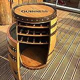 """Botte di whisky portabottiglie """"Balmoral"""", per vino, in legno massello di quercia"""