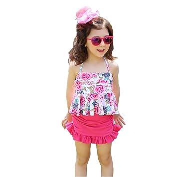 977ce7a4984e06 可愛い 子供用 水着 女の子 花柄 スクール セパレート 上下セット 女児 ガールズ ビキニ キャップ付き