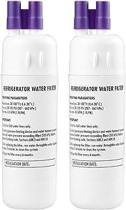 Drop 1 Refrigerator Water Filter Compatible with W10291030 P4RFWB P5WB2L CAP, Kenmore 46-9081 46-9903 P4RFKB2; Kitchenaid KFFS20EYMS00 KFFS20EYMS01 KFFS20EYMS04 ; Amana ASD2575BRS01 (2pcs)
