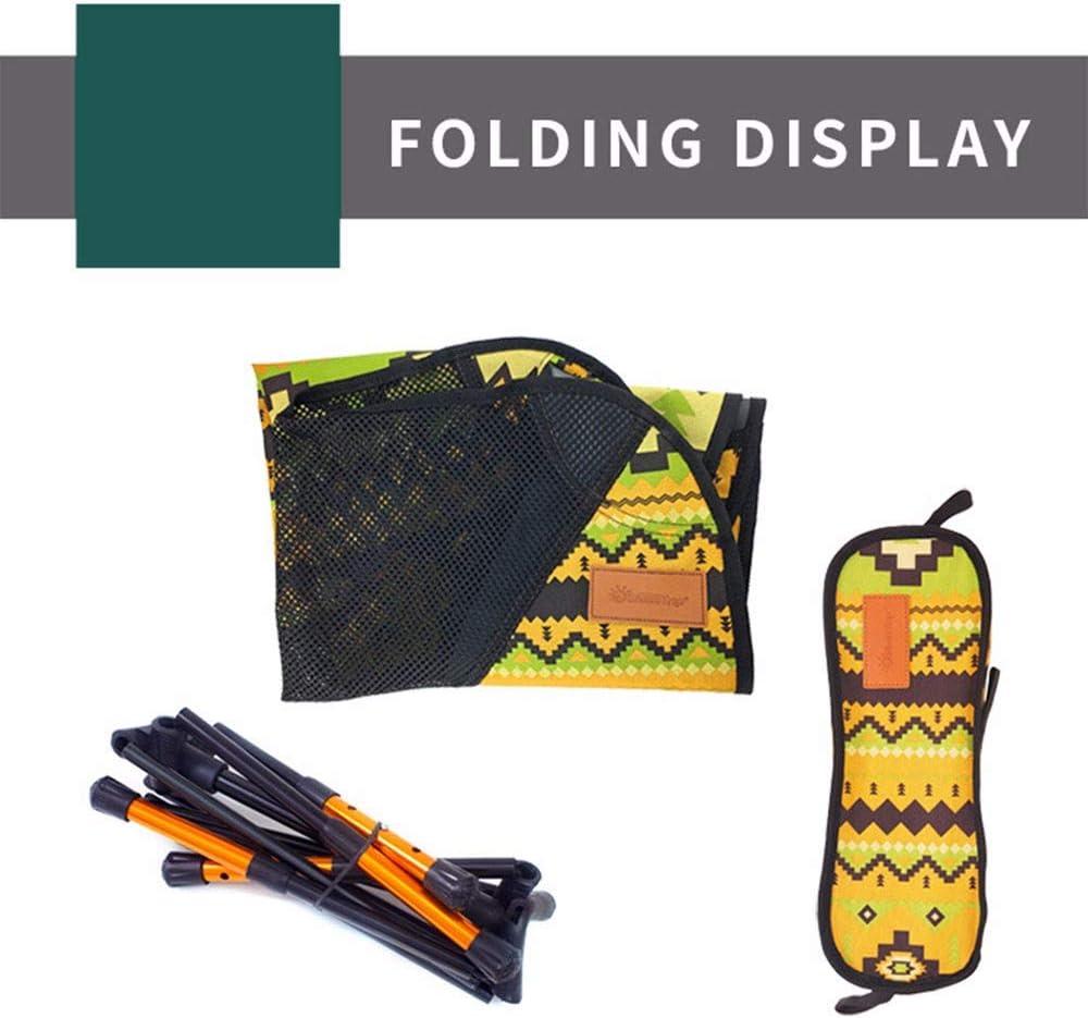 Feai Silla Plegable portátil de Colores Plegable rápidamente Taburete para Acampar al Aire Libre Taburete Slacker Pata Ajustable con Bolsa de Transporte Yellow