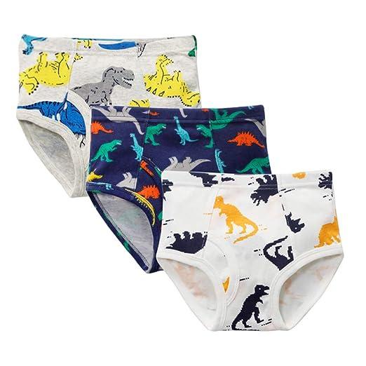 Zando Baby Boys Underwear Soft Cotton Panties Funny Cartoon Print Toddler Briefs Underwear