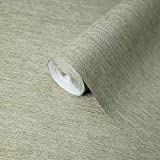 Portofino wallcoverings Embossed Vinyl Non-Woven Wallpaper Modern Rustic Grass Green Gold Metallic Faux Sack Grasscloth Textured Lines Textures coverings Paste The Wall only (Sample (8'' x 11''))
