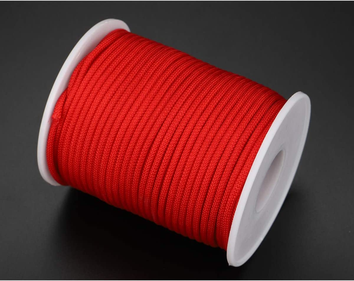 2mm-98feet, Coffee McFanBe Braided Nylon Twine Cord Thread String for Necklace Bracelet Jewelry Making Crafting Accessories