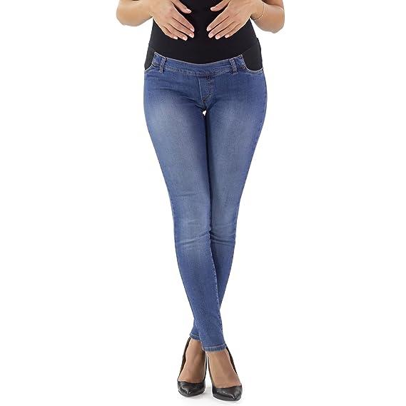 b7e1773084b74 MAMAJEANS Jeans Premaman Slim Fit con Leggeri Difetti
