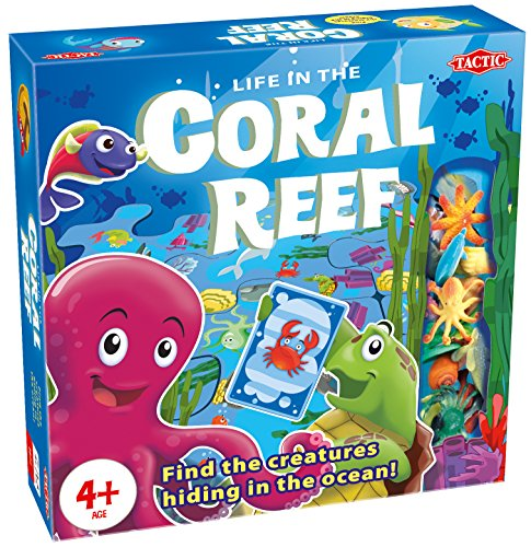 Tactic Games US Coral Reef Board Games (94 Piece), Blue, 9.75'' x 2.42'' x 9.75'' by Tactic Games US