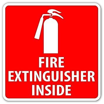 Amazon.com: Extintor dentro Locater Símbolo de emergencia ...