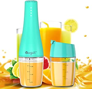 Portable Blender, VersionTECH. Juicer, Personal Blender with USB Rechargeable Battery Operated, 350ML Capacity Travel Juicer, Making Smoothie Milkshake Fruit Baby Food for Home Outdoor