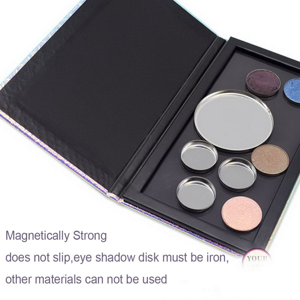 Mermaid Empty Magnetic Palette For Eyeshadows Highlighters Blush Baked Powders Foundation Empty Magnetic Makeup Palette Tool by Hanyia by Hanyia (Image #4)