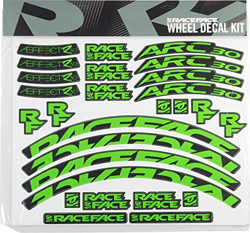 RaceFace Decal Kit for Arc 30 Rims and Aeffect R 30 Wheels, Green by RaceFace (Image #1)