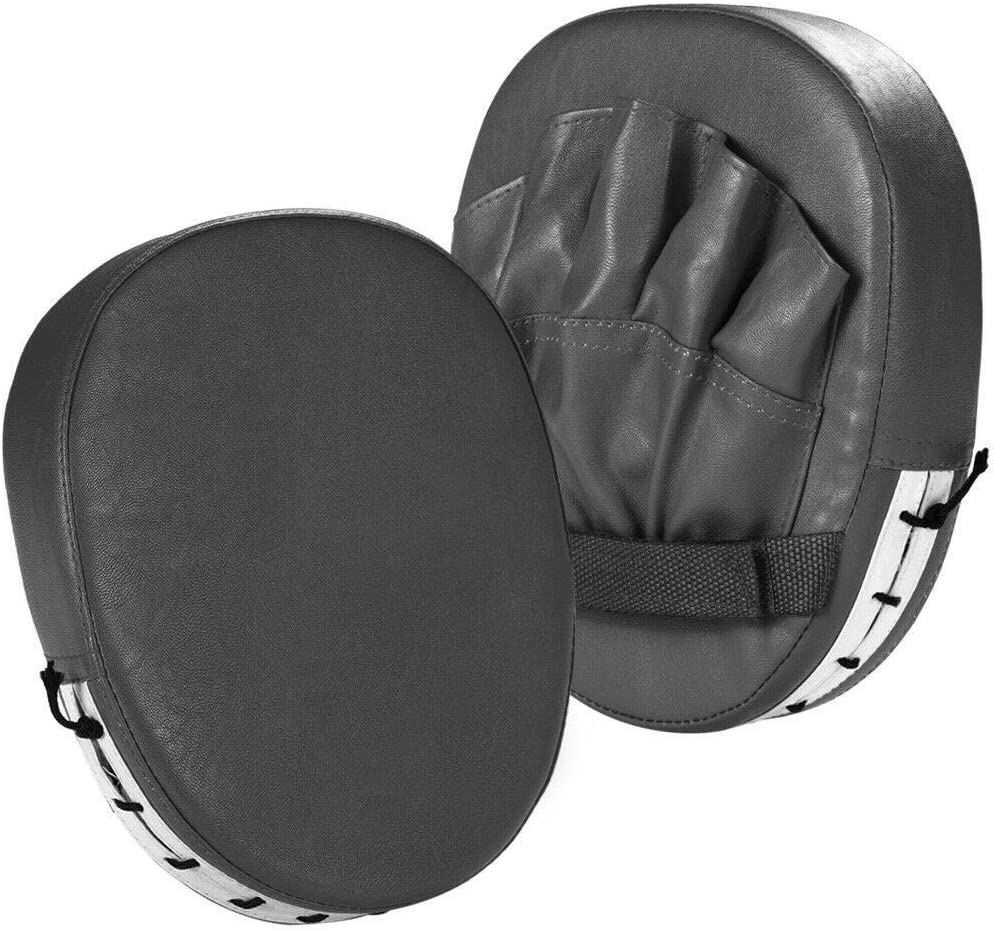Pack of 2 Punch Mitts Boxing Mitts Leather for Karate MMA Martial Kickboxing Training