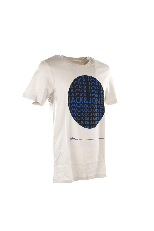 Jack /& Jones T-Shirt Uomo M Grigio 12148135//jcobigger Primavera Estate 2019