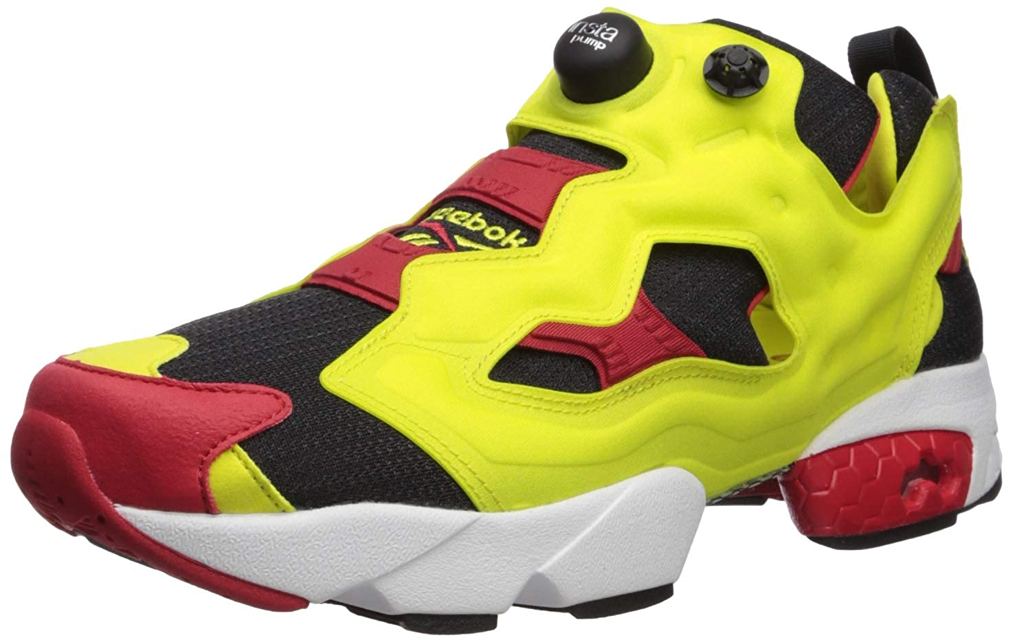 Black Hypergreen Red White Reebok Men's Instapump Fury Og,