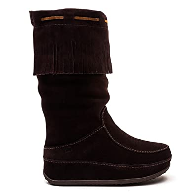 f7beeead6 FitFlop Womens Superfringe Mukluk Knee-High Suede Boot Shoe